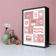 Personalised Baby Gift Infographic A4 Light Box Frame