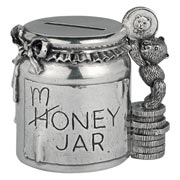 Money Jar Pewter Coin Box