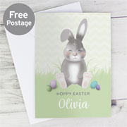 Personalised Cute Easter Bunny Card