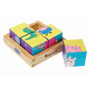 Personalised Peppa Pig Wooden Puzzle Blocks