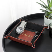 Personalised Luxury Brown Coin Tray