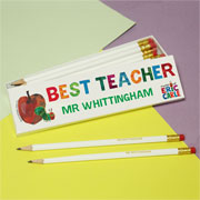 Very Hungry Caterpillar Best Teacher Personalised Pencils