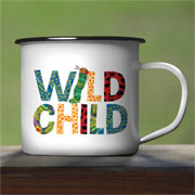 Very Hungry Caterpillar Wild Child Personalised Enamel Mug
