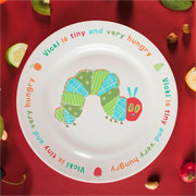 Very Hungry Caterpillar Tiny & Very Hungry Bone China Plate