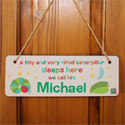 Very Hungry Caterpillar Tiny & Very Tired Bespoke Door Sign