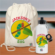 Very Hungry Caterpillar Personalised Bag & Water Bottle Set
