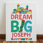 Very Hungry Caterpillar Dream Big Personalised Name Canvas