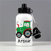 Boy's Personalised Tractor Drinks School Water Bottle