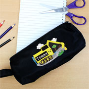 Boys Personalised Digger Black Pencil Case