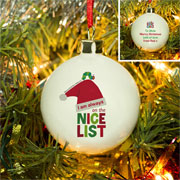 Very Hungry Caterpillar Nice List China Personalised Bauble