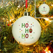 Very Hungry Caterpillar Ho Ho Ho Personalised China Bauble