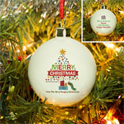 Hungry Caterpillar Merry Christmas Personalised Tree Bauble