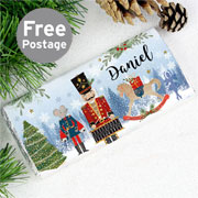 Personalised Nutcracker Milk Chocolate Bar Christmas Gift