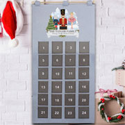 Child's Personalised Felt Nutcracker Pocket Advent Calendar