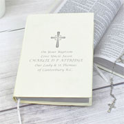 Personalised Silver Companion Holy Bible Eco Friendly