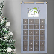 Kid's Personalised The Snowman Silver Fabric Advent Calendar