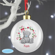 Grandmother Personalised Tatty Teddy Christmas Tree Bauble