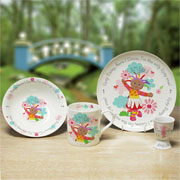 Personalised Girl's Bone China Upsy Daisy Breakfast Set