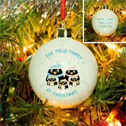 Personalised China Penguin Family Christmas Tree Bauble