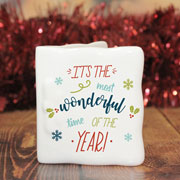 Most Wonderful Time Of The Year Personalised Message Card