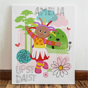 Girl's Personalised Upsy Daisy In the Night Garden Canvas