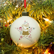 Girl's Personalised Peppa Pig Christmas Tree Glitter Bauble