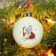 Personalised Tatty Teddy Christmas Cuddles Baby Tree Bauble