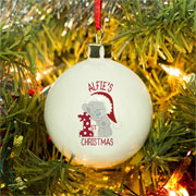 Tatty Teddy Personalised My 1st Christmas China Tree Bauble
