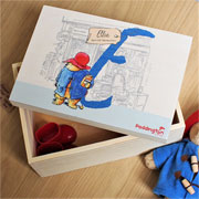 Personalised Paddington Bear Initial Special Memories Box