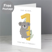 Personalised Animal Themed Children's Birthday Card