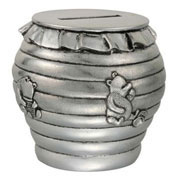 Pewter Pooh Coin Box 'A Useful Pot'