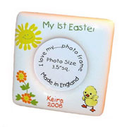 Personalised Bone China Easter Photo Frame