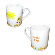 Personalised Bone China Easter Chick Mug