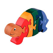 Lanka Kade Fair Trade Wooden Number Tortoise Jigsaw Puzzle
