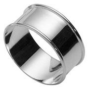 Plain Solid Silver Napkin Ring from Carrs of Sheffield