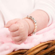 Personalised Pearl Christening/Holy Communion Bracelet