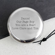 Silver Plated Engraved Yo Yo Children's Gift
