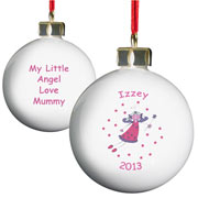 Personalised Christmas Fairy Tree Bauble