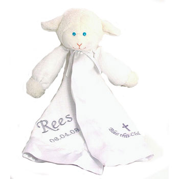 Personalised Christening Lamb Doudou