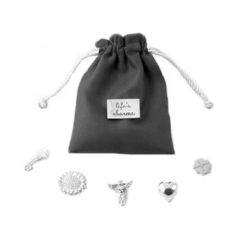 Solid Silver Life's Charms in a Pouch - Tales From The Earth