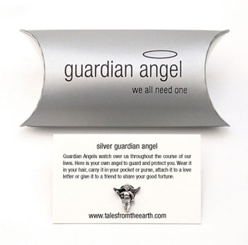 Silver Guardian Angel Keepsake Pin by Tales From The Earth
