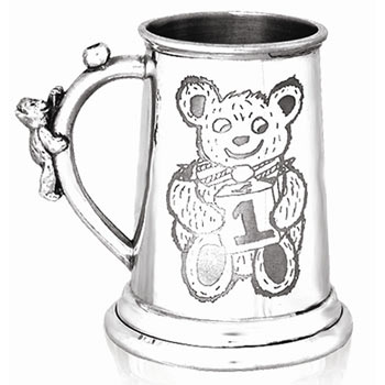 Childs First Birthday Pewter Tankard