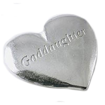 Pewter Goddaughter Heart Token