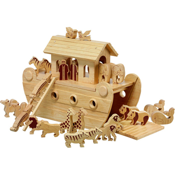 Lanka Kade Giant Deluxe Fair Trade Natural Wooden Noah's Ark