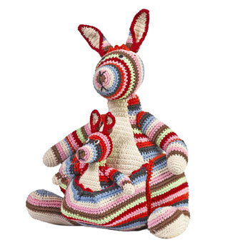 Anne Claire Petit Striped Crochet Kangaroo