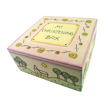 East of India Christening Keepsake Box