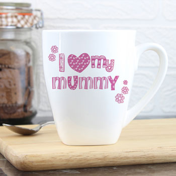 Personalised I Love My Mummy Nan Gran etc. China Mug