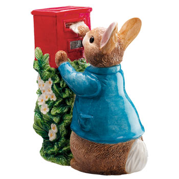 Peter Rabbit Posting a Letter Money Box