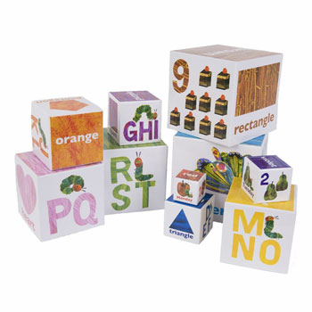 The Very Hungry Caterpillar Stackable Building Baby Blocks