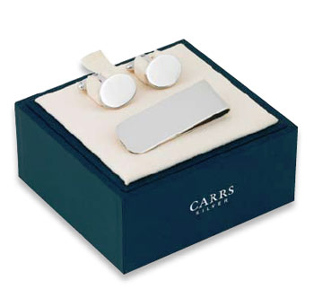 Solid Silver Cufflinks and Money Clip by Carrs